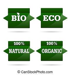 eco, set, pictogram, illustratie