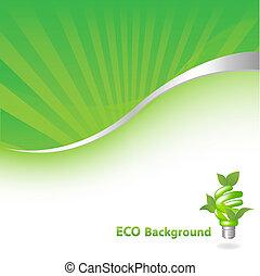 eco, sfondo verde