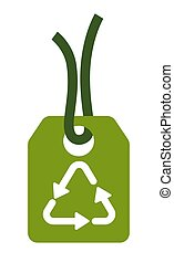 Eco shopping, recyclable material sign isolated icon