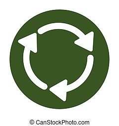 Eco shopping, recyclable or reused material isolated icon