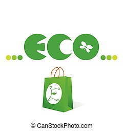 eco sign and symbol vector illustration