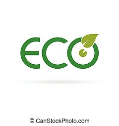 eco sign color vector