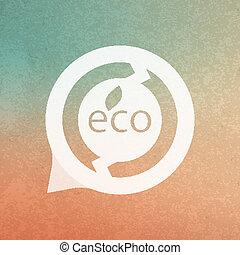 Eco sign. Vector illustration.