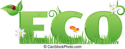 Eco sign/text