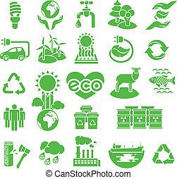 eco, silhouette, icone