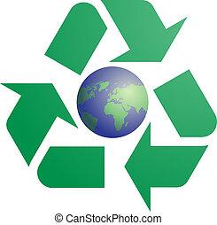 eco, simbolo, riciclaggio