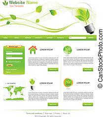 eco, sitio web, verde