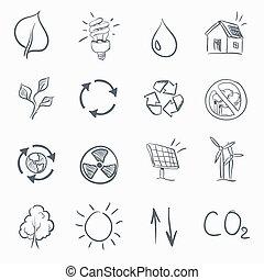 Eco Skerch Icon Set