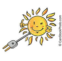 eco, soleil, solaire