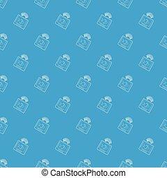 eco, sounder, padrão, vetorial, seamless, azul
