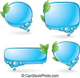 Eco speech bubble set - Set of speech bubbles formed from ...