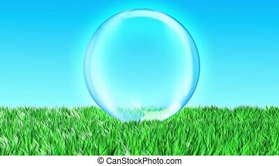 eco, sphère, animation