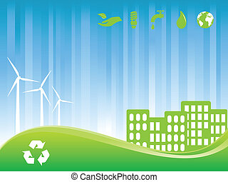 eco, stad, groene