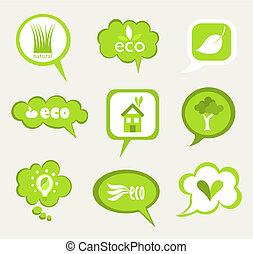 eco, stickers