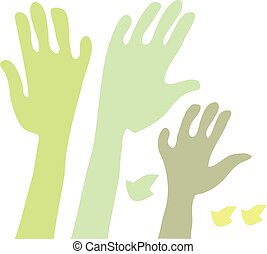 eco style concept tree hand vector illustration