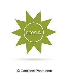 eco sun green vector