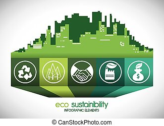 eco sustainibility design, vector illustration eps10 graphic