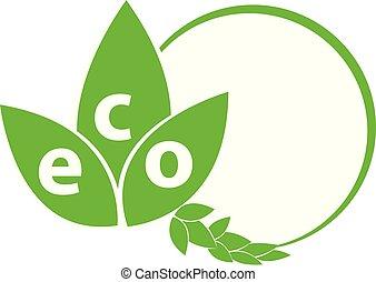 Eco symbol isolated on white  background