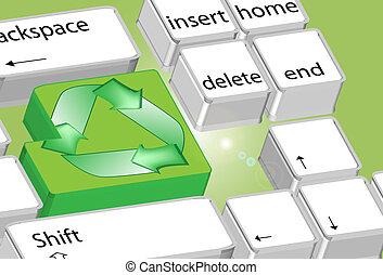 eco, symbol, komputer