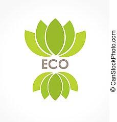 eco, symbole, feuille