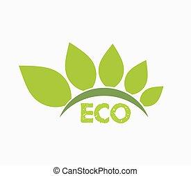 eco, symbole, vecteur
