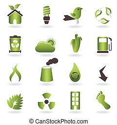 eco, symboler, och, ikonen