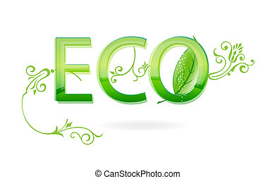 eco, symbool, groene
