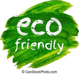 eco, tache, vert, amical