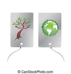 eco tags illustration design