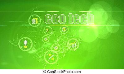 """eco, technologie, """"investment, ideas"""", toile de fond"""