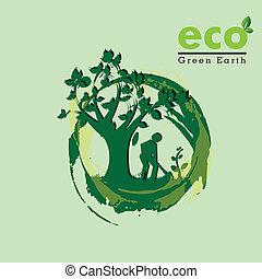 eco, terra, verde