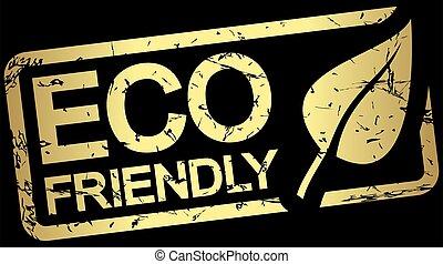 eco, text, vänskapsmatch, stämpel, guld