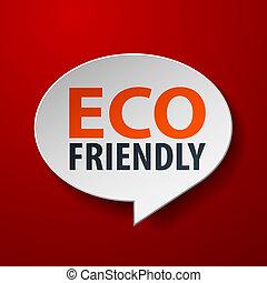 eco, toespraak, achtergrond, bel, vriendelijk, rood, 3d