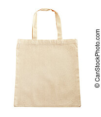 Eco tote bag isolated on white background