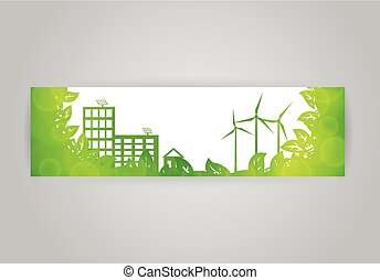 Eco town banner