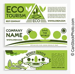 Eco travel and tourism banner template design