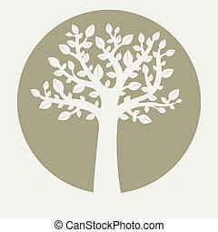 Tree - Eco Tree, Vector Illustration