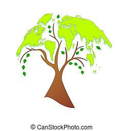 Eco tree (world map)
