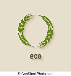 eco, trigo, símbolo