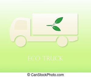 Eco truck. Icon. Modern Vector illustration. Eco Concept