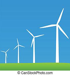 eco, turbinas, poder vento