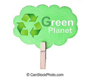 eco, vänskapsmatch, label., grön planet