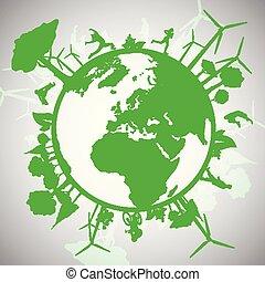 eco, värld, grön
