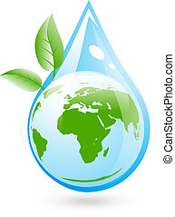 eco, víz, világos, fogalom
