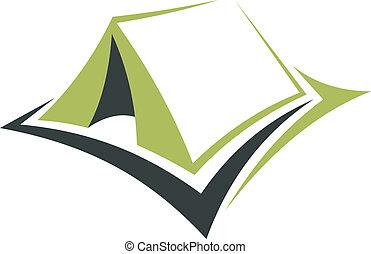 eco, vacanza, verde, tenda