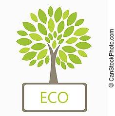 eco, vector, boompje