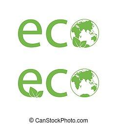eco vector icon ECO LOGO