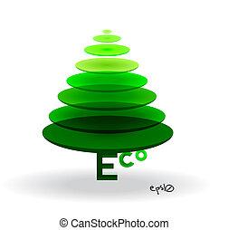 Eco vector logo