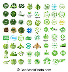 eco, vector, verzameling, meldingsbord