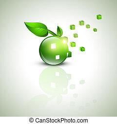 eco, verde, desenho